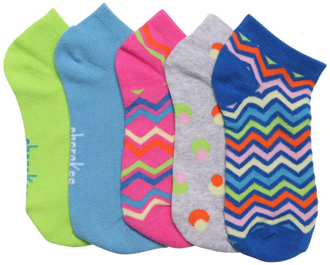 Cherokee   Women's 6-5pr packs of No Show Socks - SPRINGFEVER - ScrubHaven