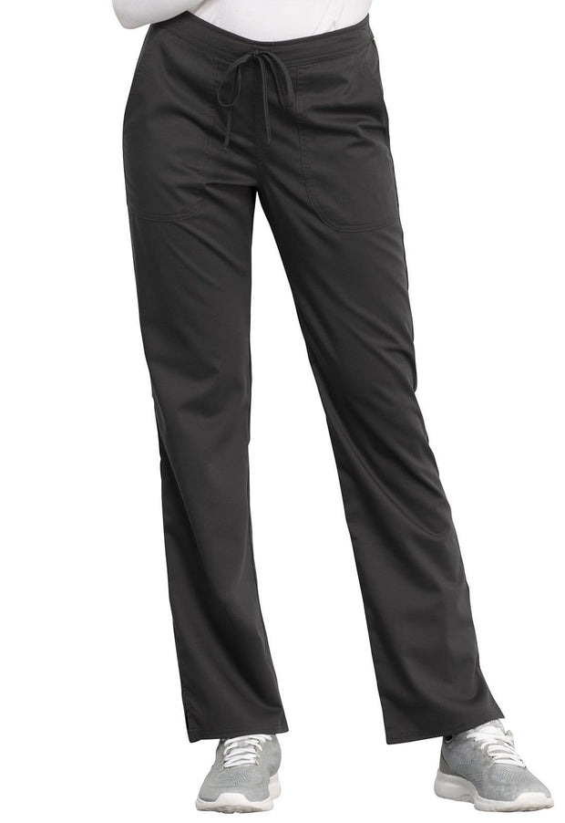 Cherokee Workwear WW Revolution Women's Mid Rise Straight Leg Drawstring Pant - WW005T  Tall - ScrubHaven