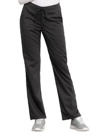Cherokee Workwear WW Revolution Women's Mid Rise Straight Leg Drawstring Pant - WW005T  Tall
