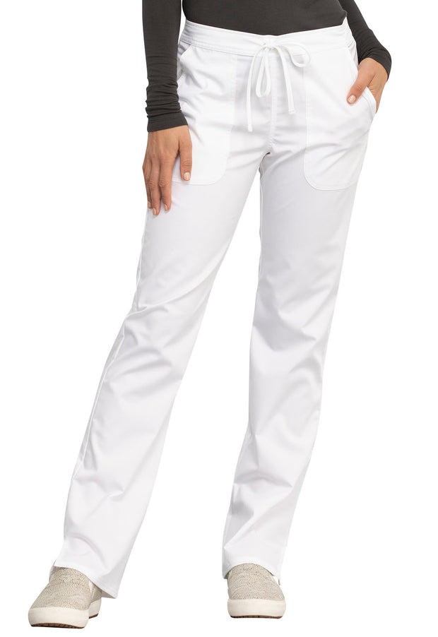 Cherokee Workwear WW Revolution Women's Mid Rise Straight Leg Drawstring Pant - WW005