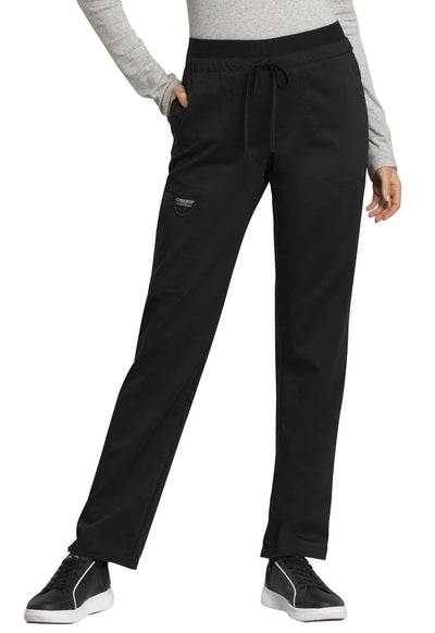 WW105 Mid Rise Tapered Leg Drawstring Pant