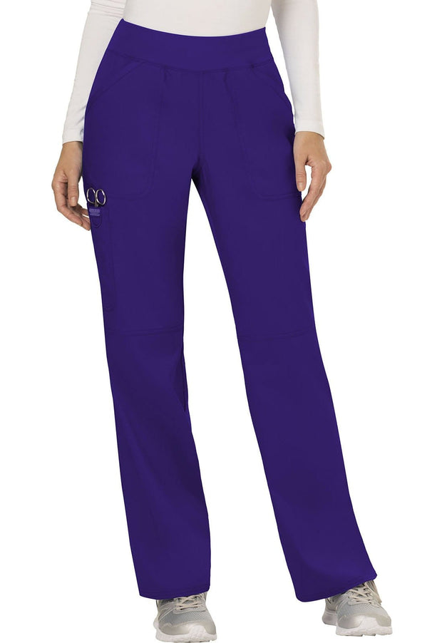 Cherokee Workwear WW Revolution Women's Mid Rise Straight Leg Pull-on Pant - WW110P  Petite - ScrubHaven