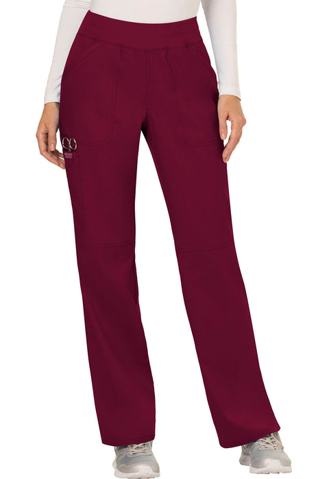Cherokee Workwear WW Revolution Women's Mid Rise Straight Leg Pull-on Pant - WW110P  Petite