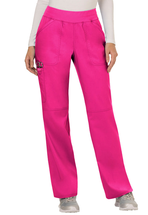 Cherokee Workwear WW Revolution Women's Mid Rise Straight Leg Pull-on Pant - WW110T  Tall