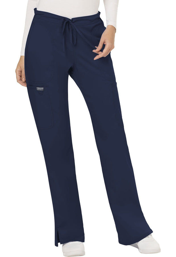 Cherokee Workwear WW Revolution Women's Mid Rise Moderate Flare Drawstring Pant - WW120 - ScrubHaven
