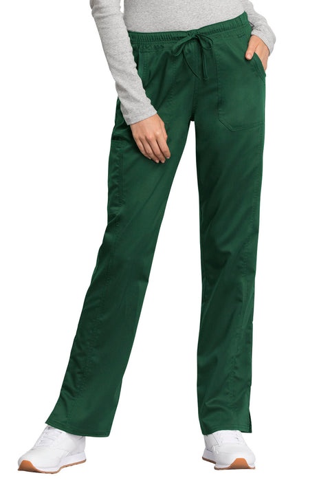 Cherokee Workwear WW Revolution Tech Women's Mid Rise Straight Leg Drawstring Pant - WW235AB