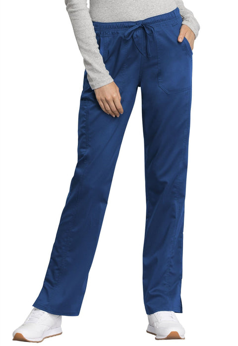 Cherokee Workwear WW Revolution Tech Women's Mid Rise Straight Leg Drawstring Pant - WW235AB - ScrubHaven