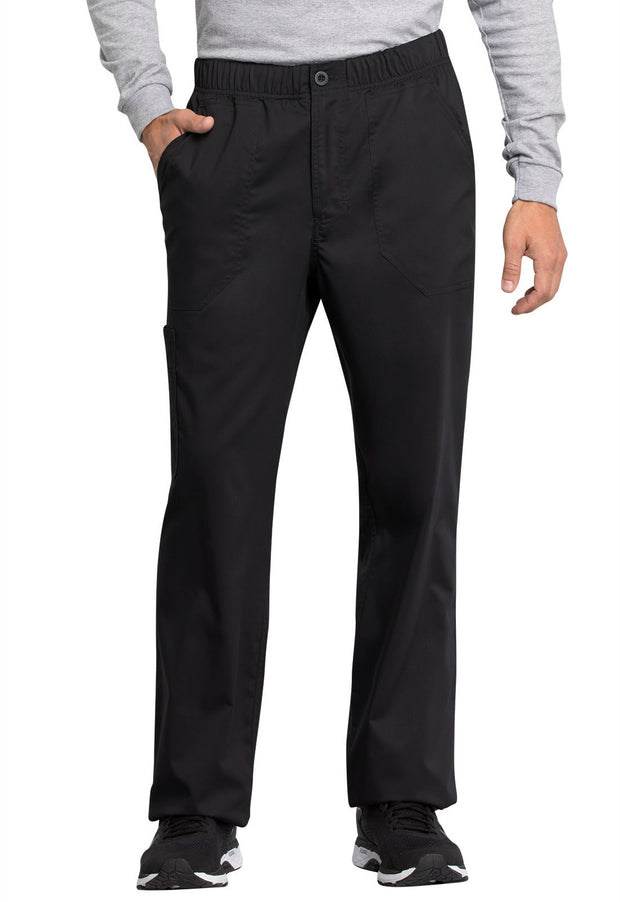Cherokee Workwear WW Revolution Tech Men's Mid Rise Straight Leg Zip Fly Pant - WW250ABT  Tall