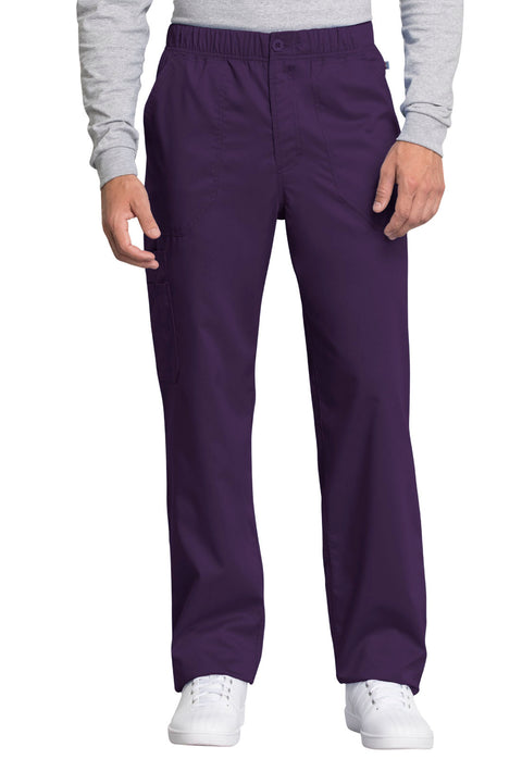 Cherokee Workwear WW Revolution Tech Men's Mid Rise Straight Leg Zip Fly Pant - WW250AB