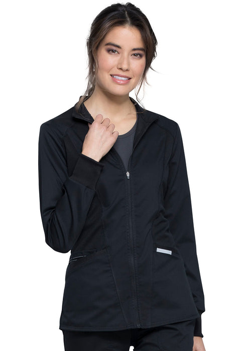 Cherokee Workwear WW Revolution Women's Zip Front High-Low Jacket - WW301