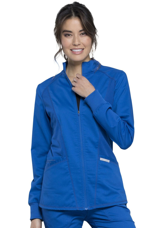 Cherokee Workwear WW Revolution Women's Zip Front High-Low Jacket - WW301 - ScrubHaven