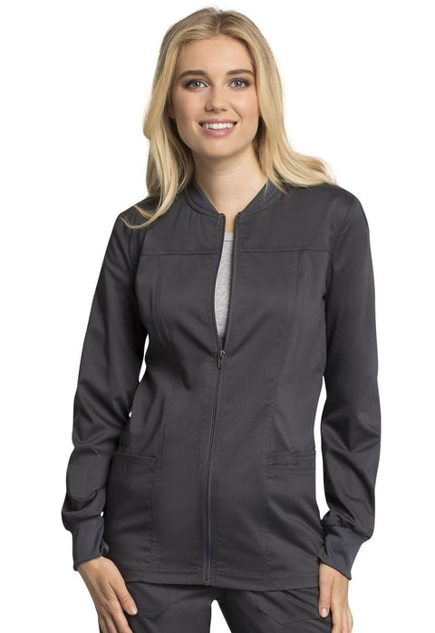 Cherokee Workwear WW Revolution Tech Women's Zip Front Jacket - WW305AB - ScrubHaven