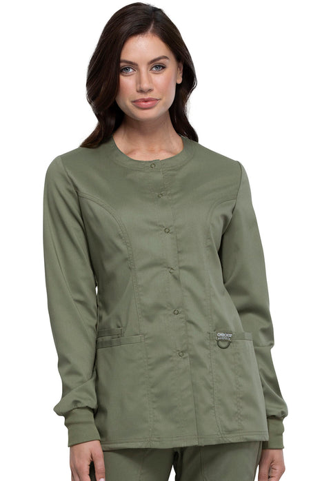 Cherokee Workwear WW Revolution Women's Snap Front Jacket - WW310