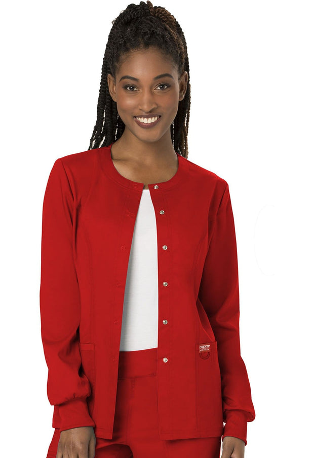 Cherokee Workwear WW Revolution Women's Snap Front Jacket - WW310 - ScrubHaven