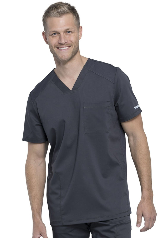 Cherokee Workwear WW Revolution Men's Men's Men's V-Neck Top - WW603 - ScrubHaven