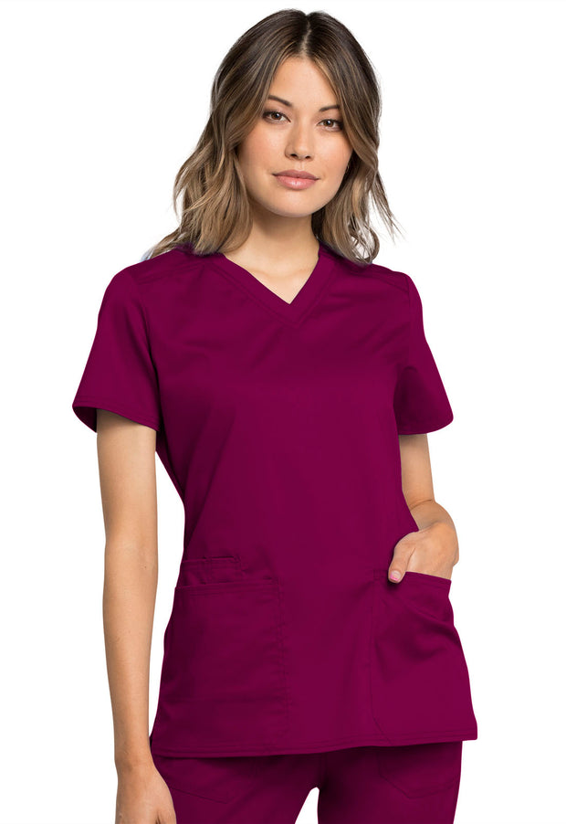 Cherokee Workwear WW Revolution Tech Women's V-Neck Top - WW770AB