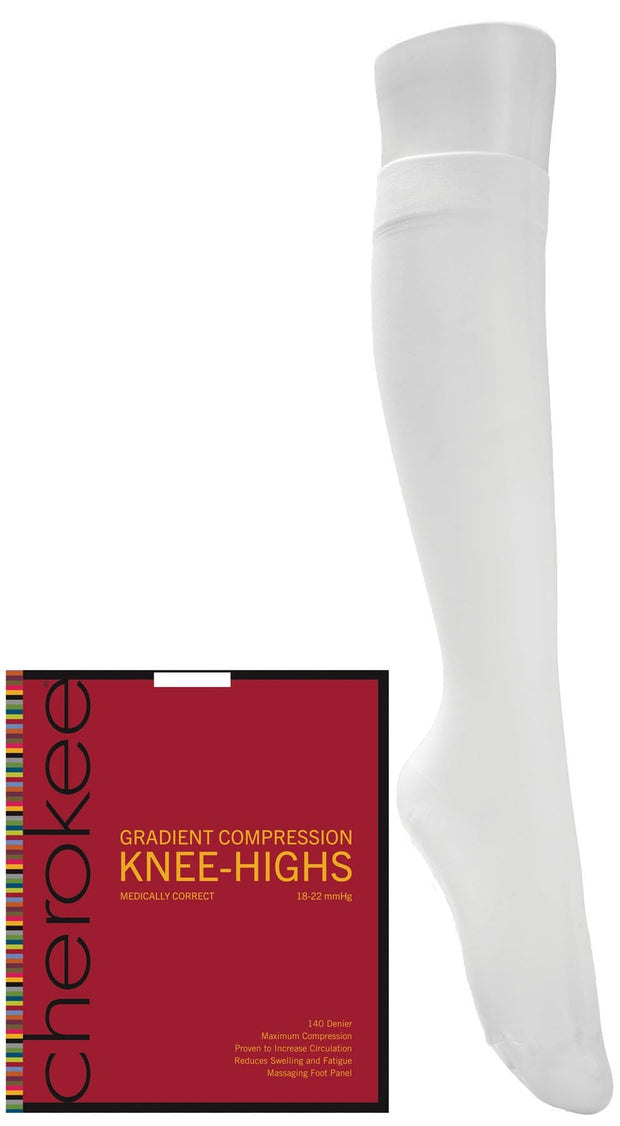 Cherokee Cherokee Footwear Women's 1 Pair Pack of Support Knee Highs - YKHMC1 - ScrubHaven