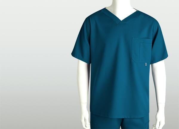 Greys Anatomy Men's 3 Pocket High Open V-Neck - 0107X - ScrubHaven