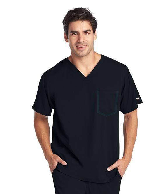Greys Anatomy Impact Men's 3 Pocket Crossover V-Neck - 0118 - ScrubHaven