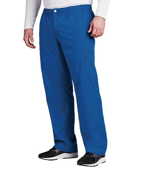 Greys Anatomy Active Men's 7 Pocket Cargo Zip Fly Button Pant - 0215T - ScrubHaven