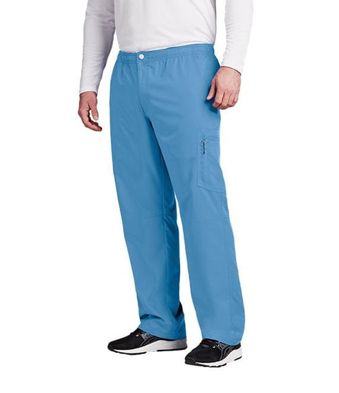 Greys Anatomy Active Men's 7 Pocket Cargo Zip Fly Button Pant - 0215X - ScrubHaven
