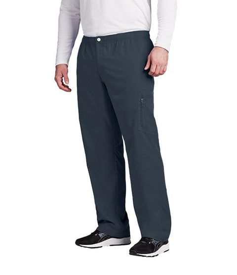 Greys Anatomy Active Men's 7 Pocket Cargo Zip Fly Button Pant - 0215 - ScrubHaven