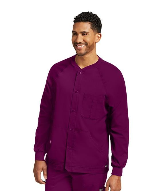 Greys Anatomy Men's 3 Pocket Raglan Warm Up - 0406 - ScrubHaven
