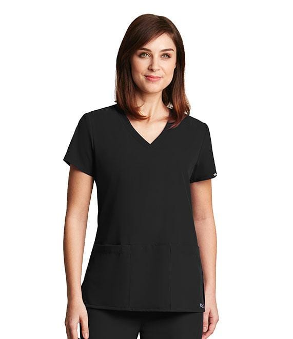 Greys Anatomy Signature Women's 3 Pocket Crossover V-Neck - 2115 - ScrubHaven