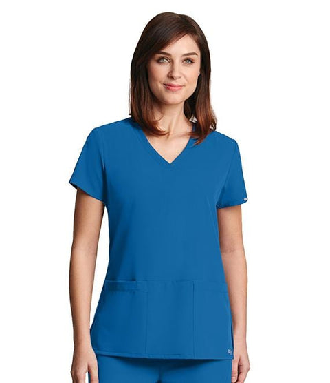 Greys Anatomy Signature Women's 3 Pocket Crossover V-Neck - 2115X - ScrubHaven