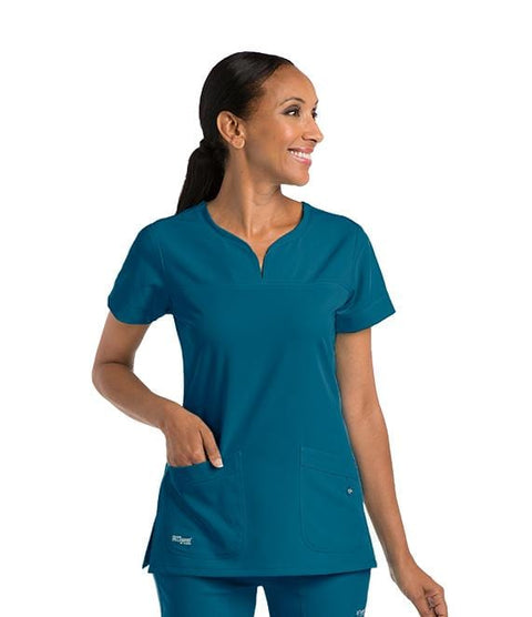 Greys Anatomy Signature Women's 2 Pocket Notch Yoke Neck With Tab - 2121 - ScrubHaven