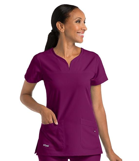 Greys Anatomy Signature Women's 2 Pocket Notch Yoke Neck With Tab - 2121X - ScrubHaven