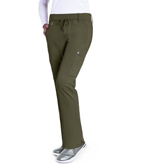 Greys Anatomy Signature Women's 6 Pocket Double Cargo Midrise - 2218 - ScrubHaven