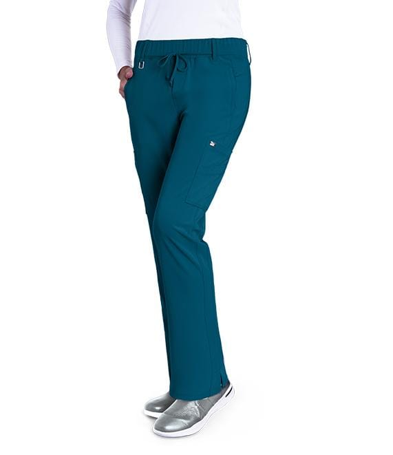 Greys Anatomy Signature Women's 6 Pocket Double Cargo Midrise - 2218 P Petite - ScrubHaven