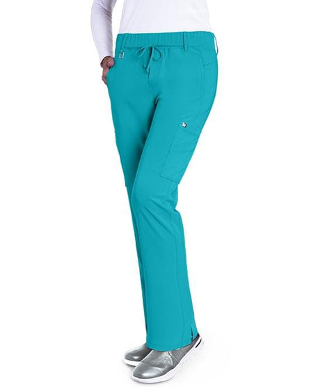 Greys Anatomy Signature Women's 6 Pocket Double Cargo Midrise - 2218T Tall - ScrubHaven