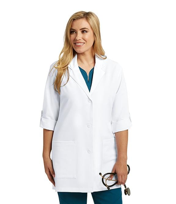 Greys Anatomy Signature Women's 31 In 2 Pocket Lab Coat 3 Quarter Tab Sleeve - 2403X - ScrubHaven