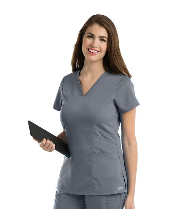 Greys Anatomy Women's 3 Pocket Stylized Princess V-Neck - 41452 - ScrubHaven