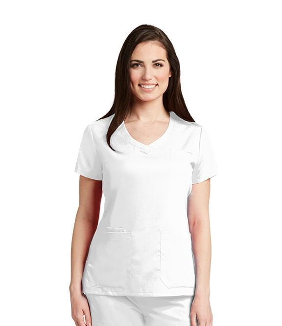 Greys Anatomy Women's 4 Pocket Stylized Princess V-Neck - 41460 - ScrubHaven