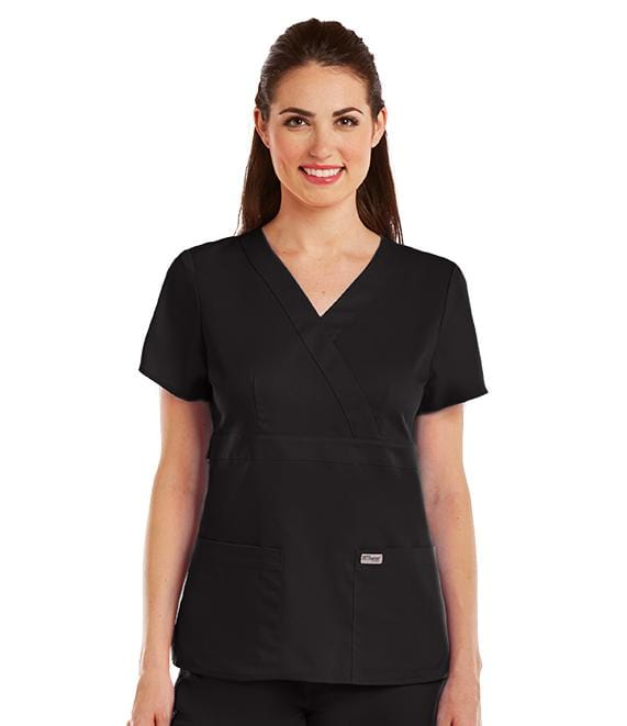 Grey's Anatomy Mock Wrap Top | Women's # 4153 - ScrubHaven