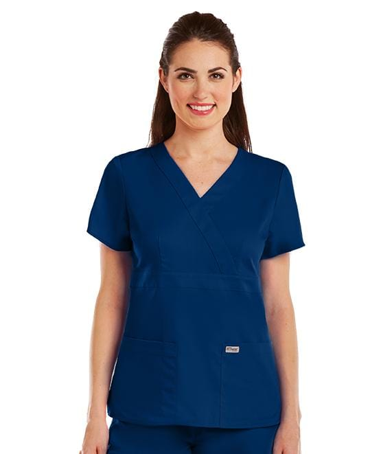 Greys Anatomy Women's 3 Pocket Mock Wrap - 4153 - ScrubHaven