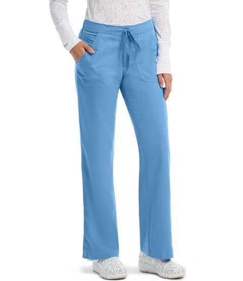 Greys Anatomy Women's 4 Pocket GA Logo Elastic Back - 4245 - ScrubHaven