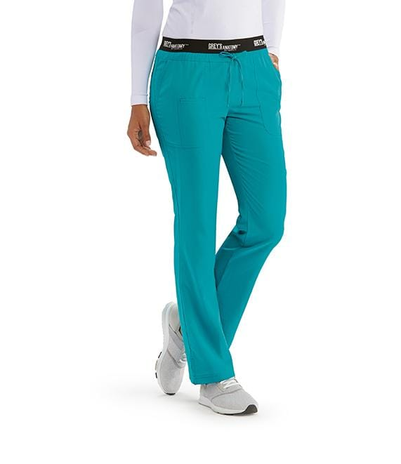 Greys Anatomy Active Women's 3 Pocket Logo Waist Pant - 4275X - ScrubHaven