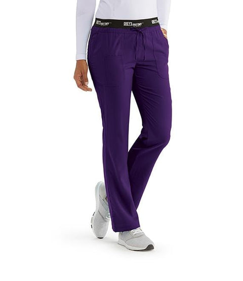 Greys Anatomy Active Women's 3 Pocket Logo Waist Pant - 4275 P Petite - ScrubHaven