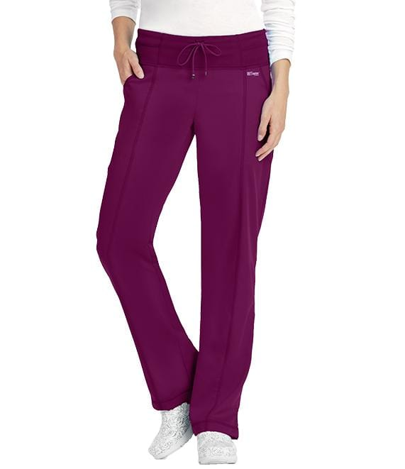 Greys Anatomy Active Women's 4 Pocket Low Rise Wide Waist Pant - 4276 P Petite - ScrubHaven