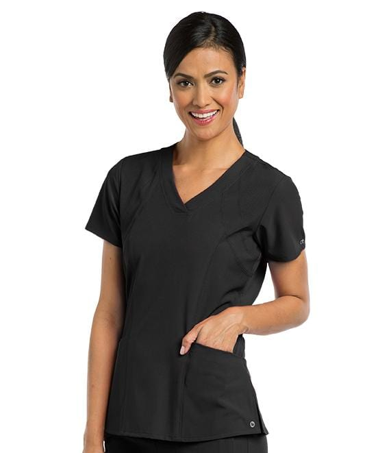 Barco One Women's 5 Pocket V-Neck Yoke & Side Panel - 5106 - ScrubHaven