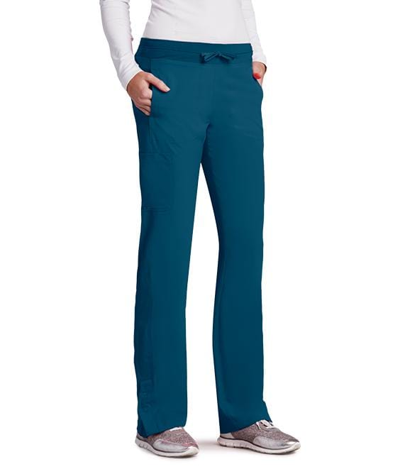 Barco One Women's 4 Pocket Knit Waist Seamed Pant - 5205 - ScrubHaven