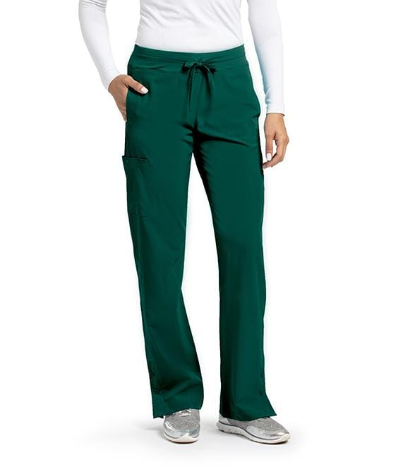 Barco One Women's 4 Pocket Knit Waist Seamed Pant - 5205T Tall - ScrubHaven