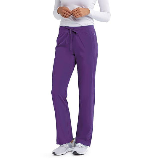 Barco One Women's 4 Pocket Knit Waist Seamed Pant - 5205X - ScrubHaven