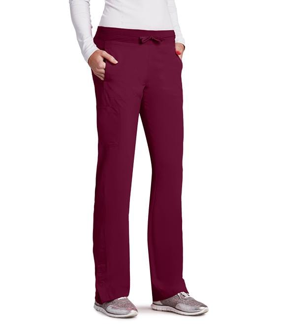 Barco One Women's 4 Pocket Knit Waist Seamed Pant - 5205 P Petite - ScrubHaven