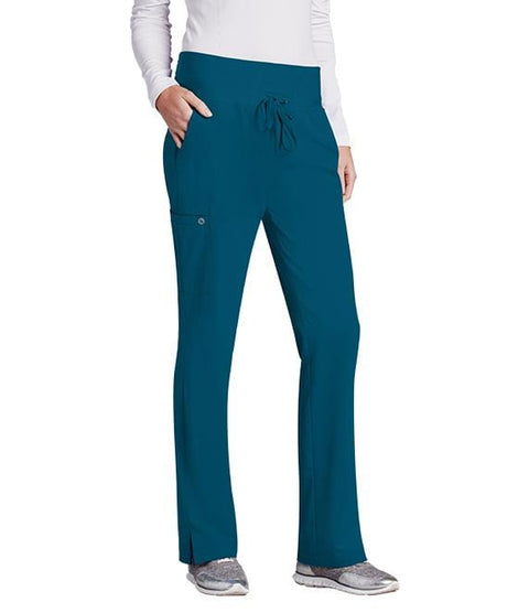 Barco One Women's 5 Pocket Knit Waist Cargo Pant - 5206X - ScrubHaven