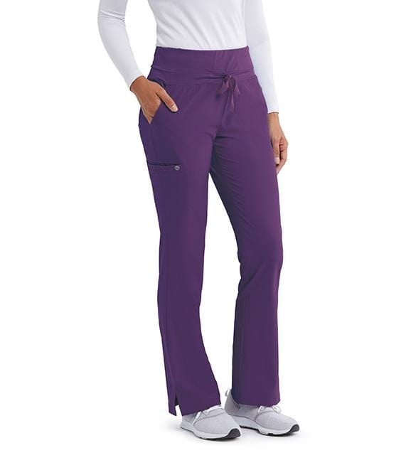 Barco One Women's 5 Pocket Knit Waist Cargo Pant - 5206 - ScrubHaven